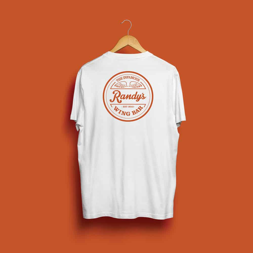 Buy Online Randy's Wing Bar - Classic - White Tee