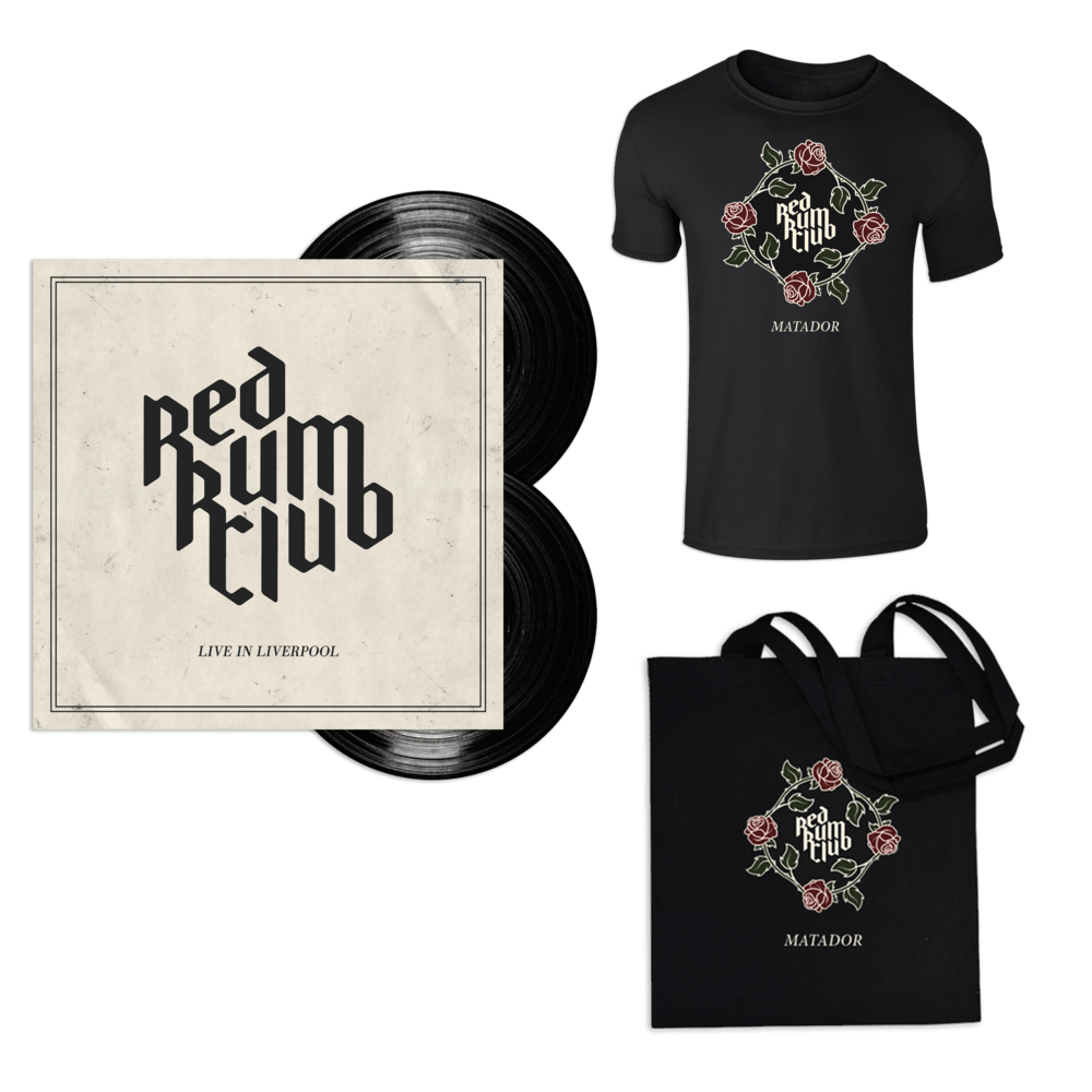 Buy Online Red Rum Club - Live In Liverpool Double Vinyl + T-Shirt + Tote