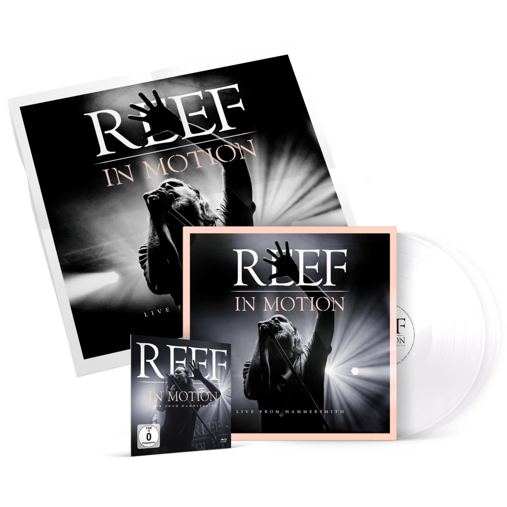 Buy Online Reef - In Motion 2LP Gatefold (white Vinyl) + Blu-ray (incl. download code) + Poster