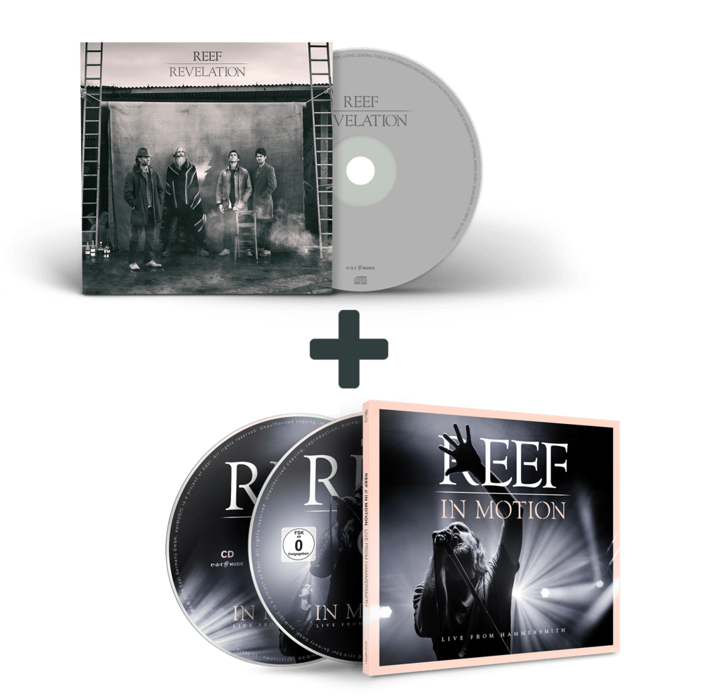 Buy Online Reef - In Motion CD/Blu-Ray + Revelation CD