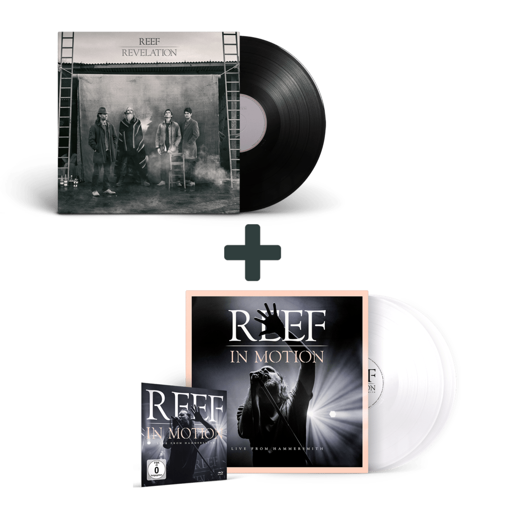 Buy Online Reef - Reef in Motion White Vinyl + Blu-Ray + Revelations Vinyl
