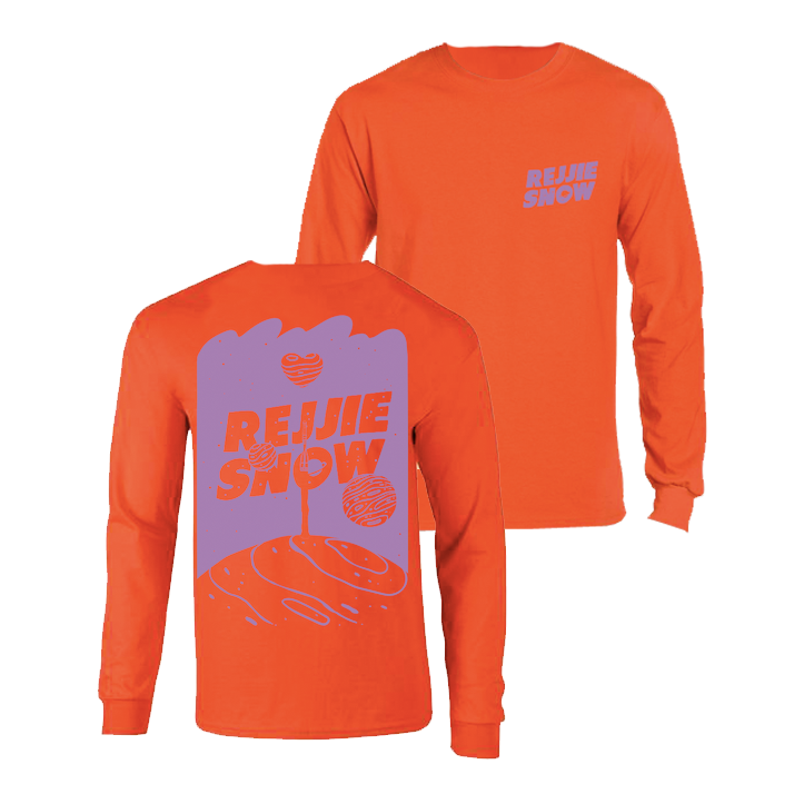 Buy Online Rejjie Snow - Space Longsleeve - Orange