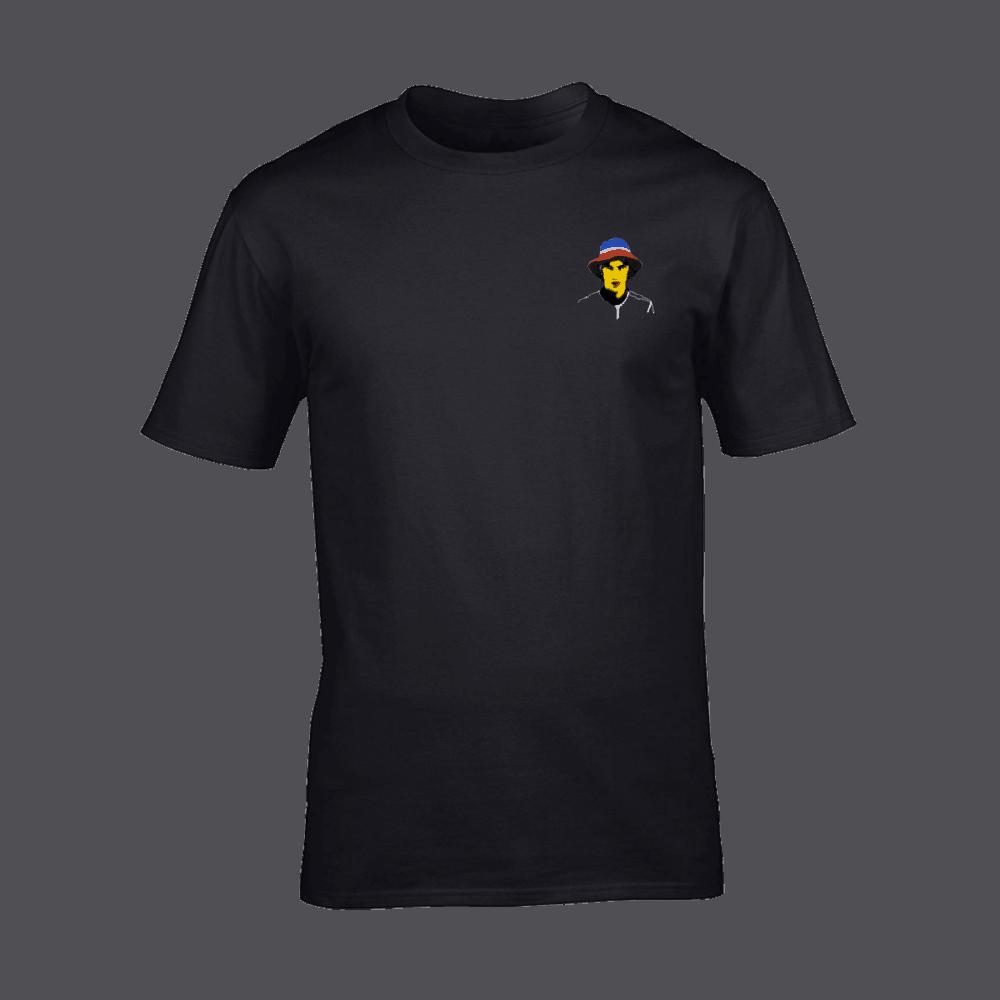Buy Online Richard Ashcroft - Hat Portrait Black T-Shirt