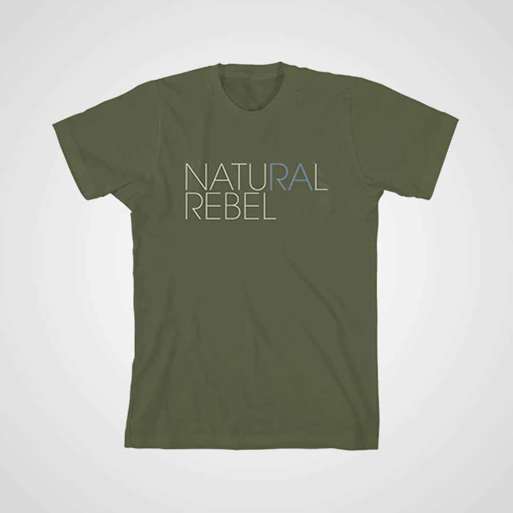 Buy Online Richard Ashcroft - Natural Rebel Kids T-Shirt (Olive)