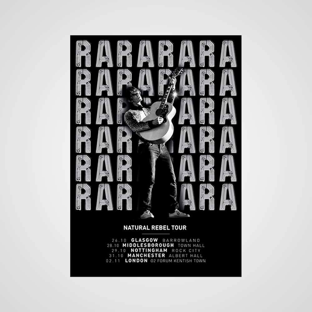 Buy Online Richard Ashcroft - Natural Rebel Tour Poster