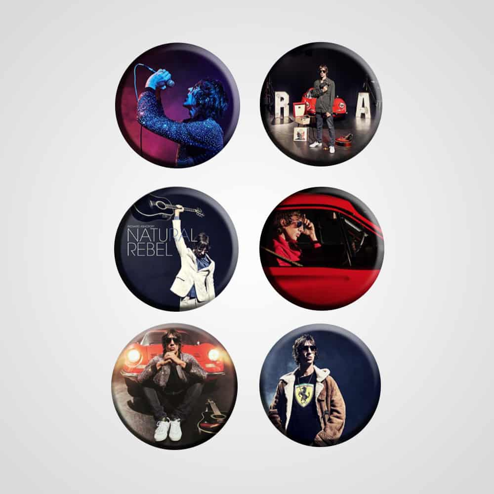 Buy Online Richard Ashcroft - Badges (Set Of Six)