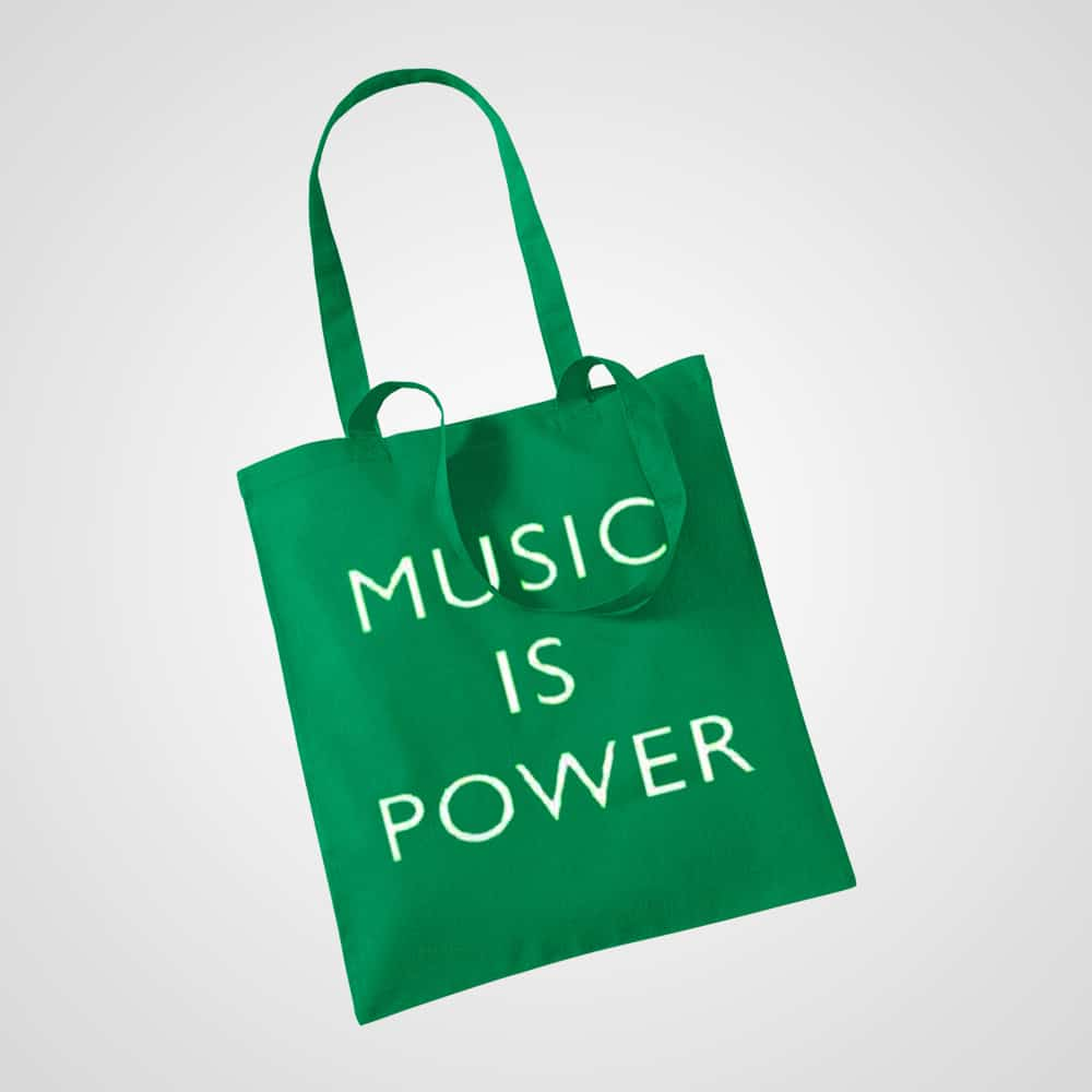 Buy Online Richard Ashcroft - Music Is Power Tote Bag (2019 Version)