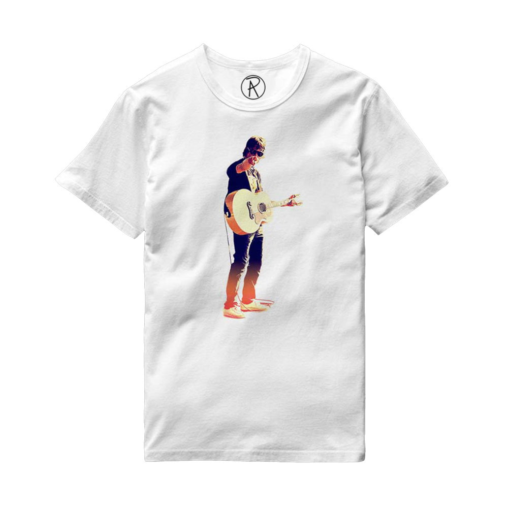Buy Online Richard Ashcroft - Acoustic Guitar White T-Shirt