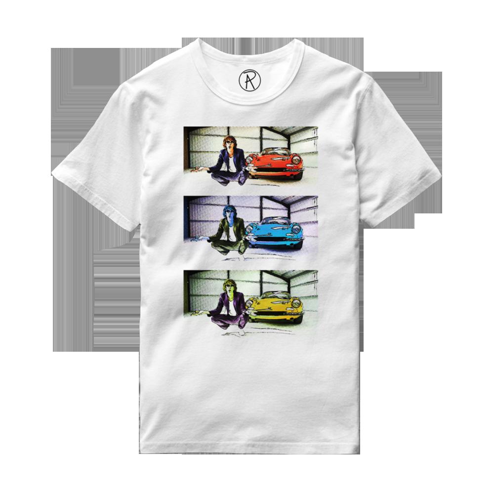 Buy Online Richard Ashcroft - Three Car Photo White T-Shirt