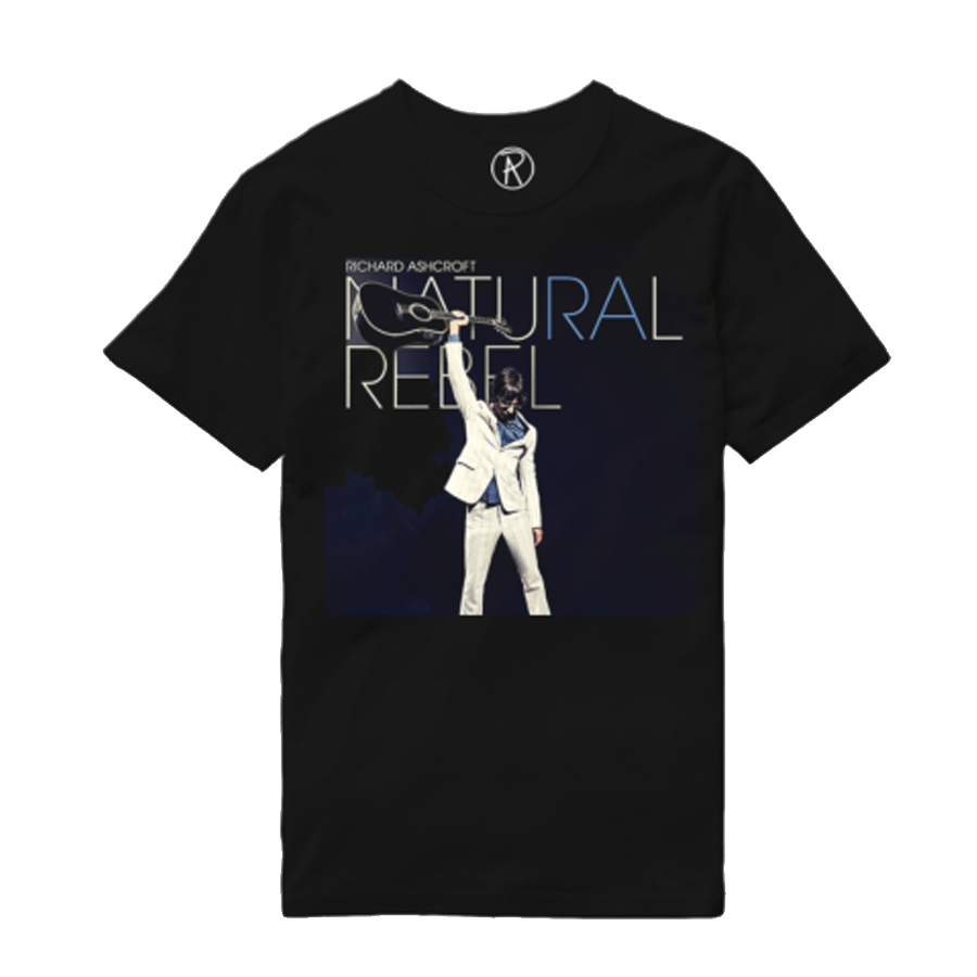 Buy Online Richard Ashcroft - Natural Rebel Black Album T-Shirt