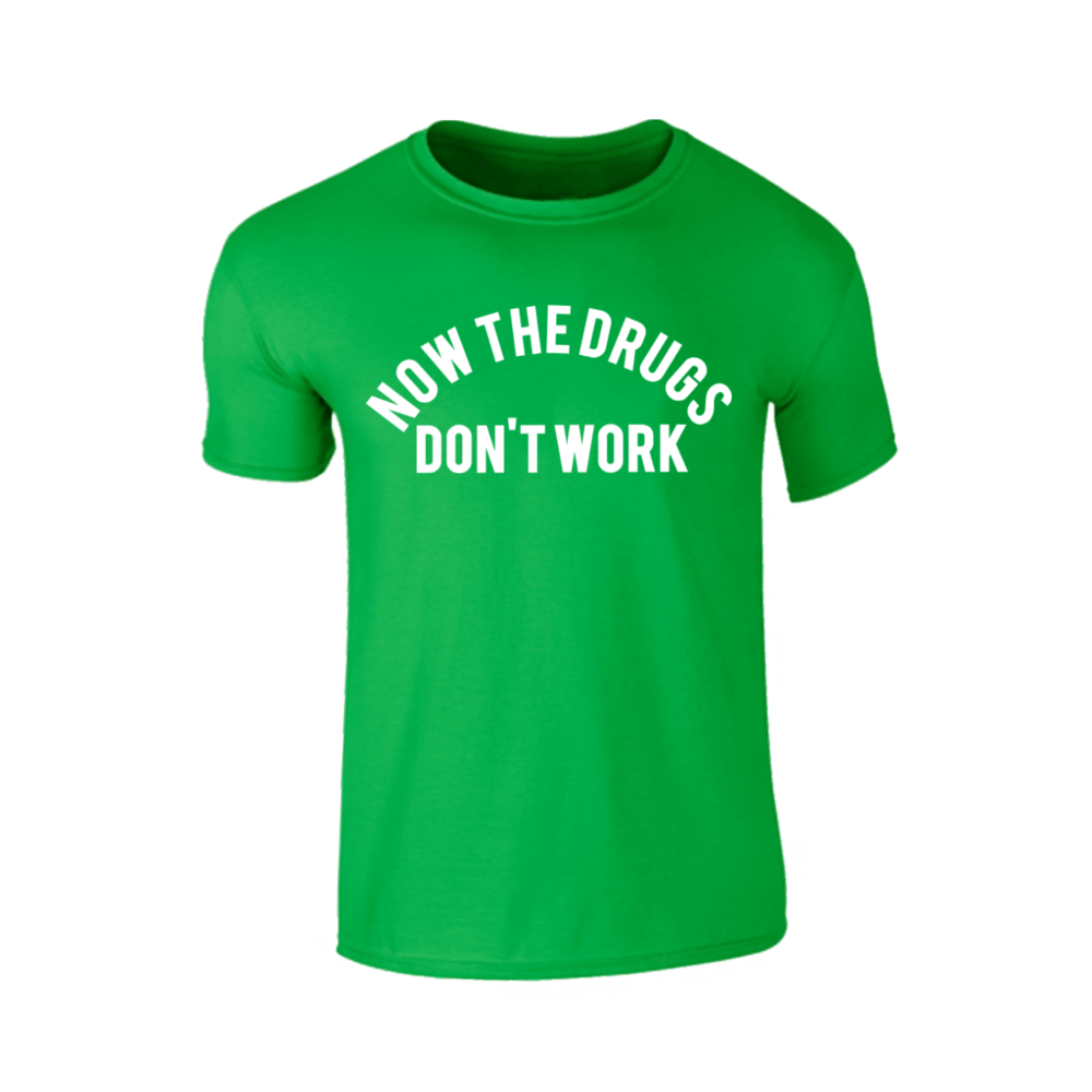 Buy Online Richard Ashcroft - Now The Drugs Don't Work Green T-Shirt