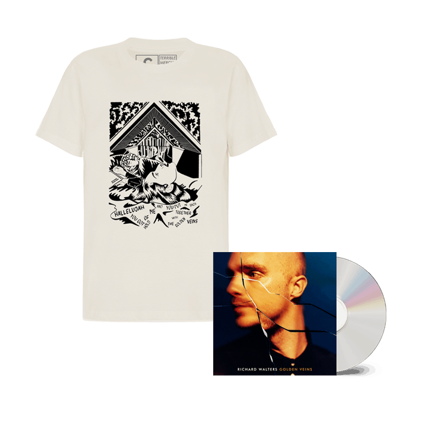 Buy Online Richard Walters - Golden Veins CD + Natural T-Shirt