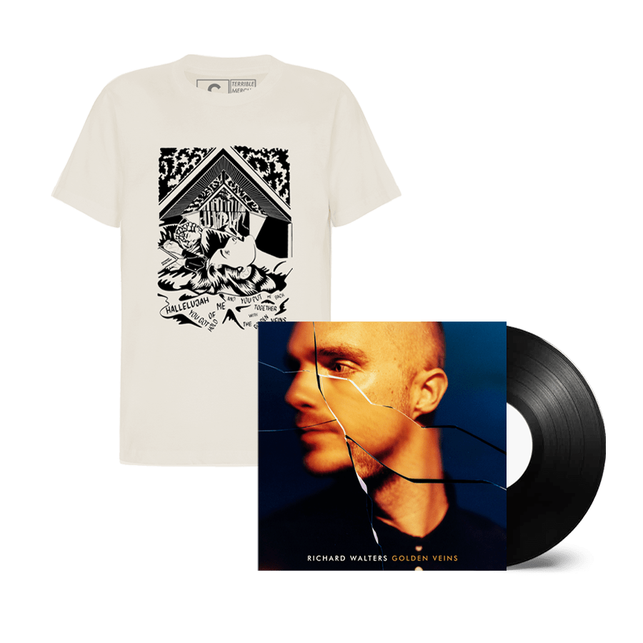 Buy Online Richard Walters - Golden Veins Black Vinyl + Natural T-Shirt