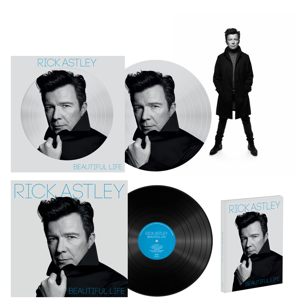 Buy Online Rick Astley - Beautiful Life Deluxe CD (Signed) + Vinyl LP + Picture Disc + Signed Rankin Photo Print