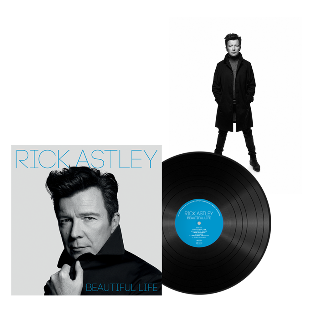 Buy Online Rick Astley - Beautiful Life Vinyl LP + Signed Rankin Photo Print