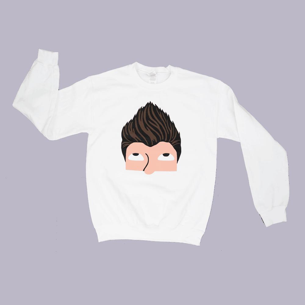 Buy Online Rick Astley - White Sweatshirt
