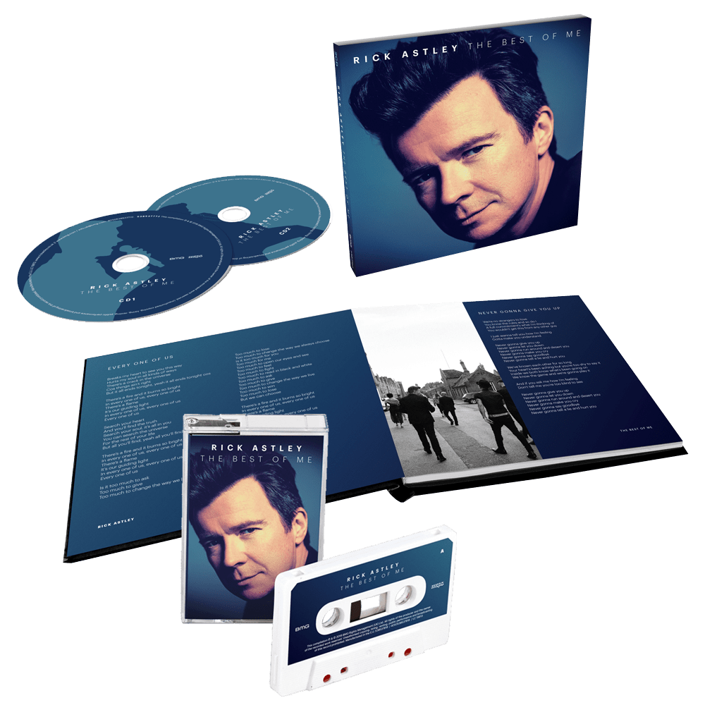 Buy Online Rick Astley - The Best Of Me Deluxe 2CD + White Cassette (Exclusive)