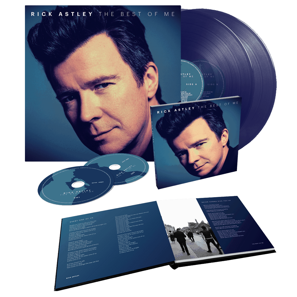 Buy Online Rick Astley - The Best Of Me Deluxe 2CD + Limited Edition Clear Blue Double Vinyl