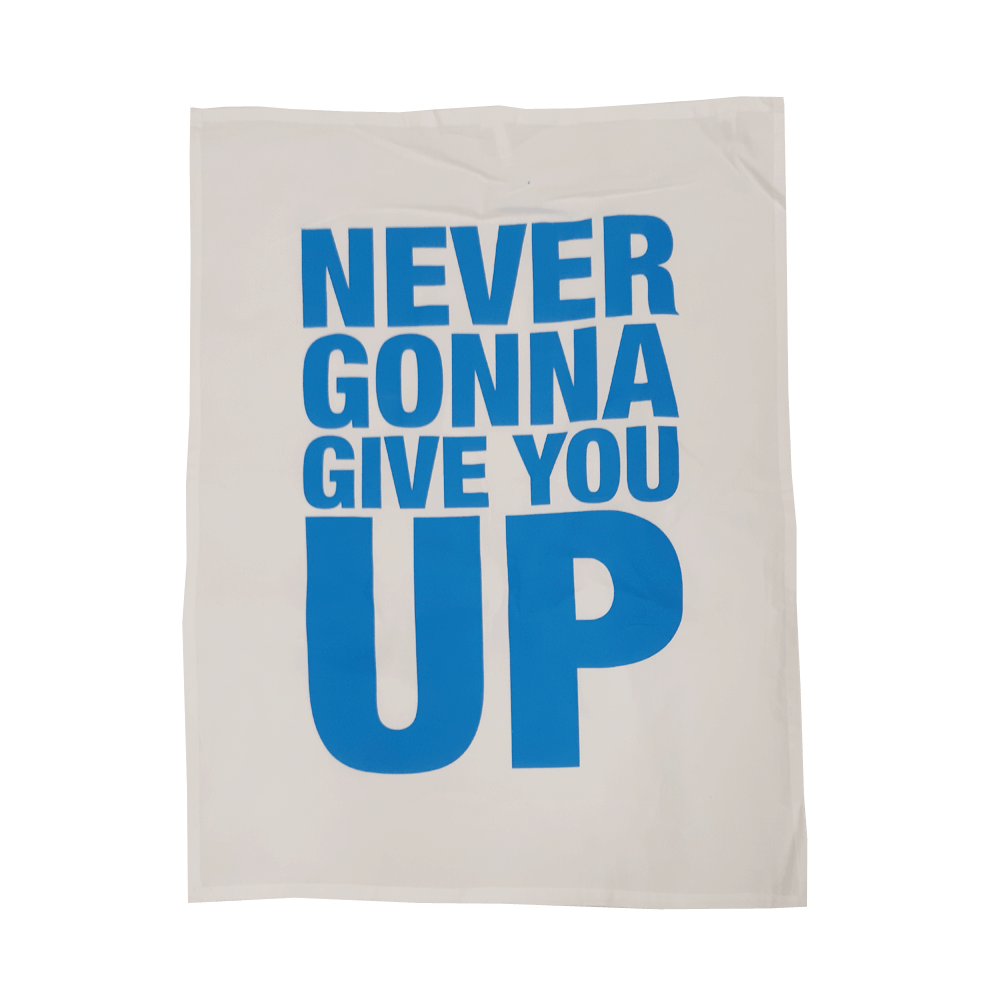 Buy Online Rick Astley - Never Gonna Give You Up Tea Towel