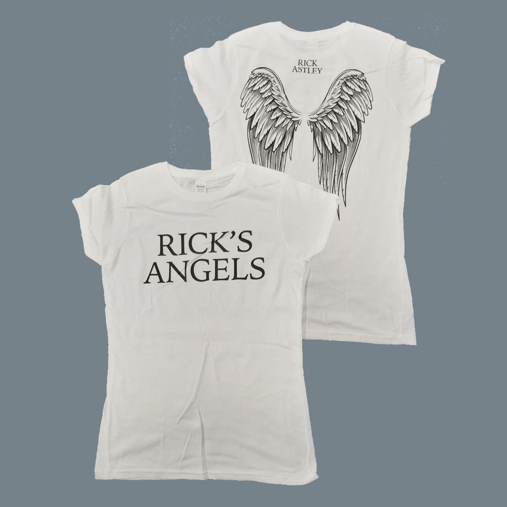 Buy Online Rick Astley - Ladies Rick's Angels T-Shirt