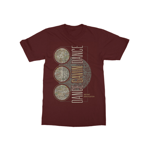 Buy Online Dance Gavin Dance - Globe T-Shirt