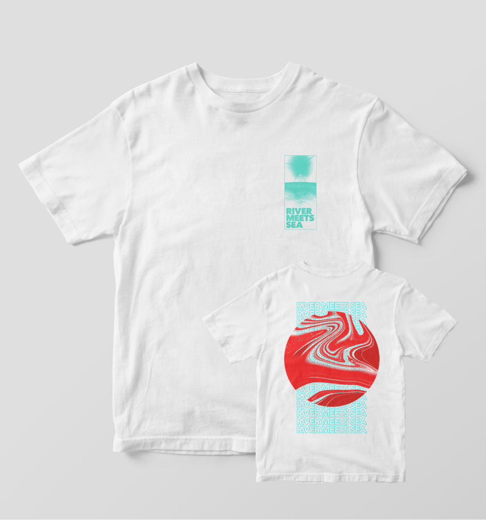 Buy Online River Meets Sea - Sun Beam White T-Shirt