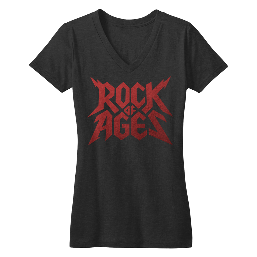 Buy Online Rock Of Ages - V-Neck T-Shirt