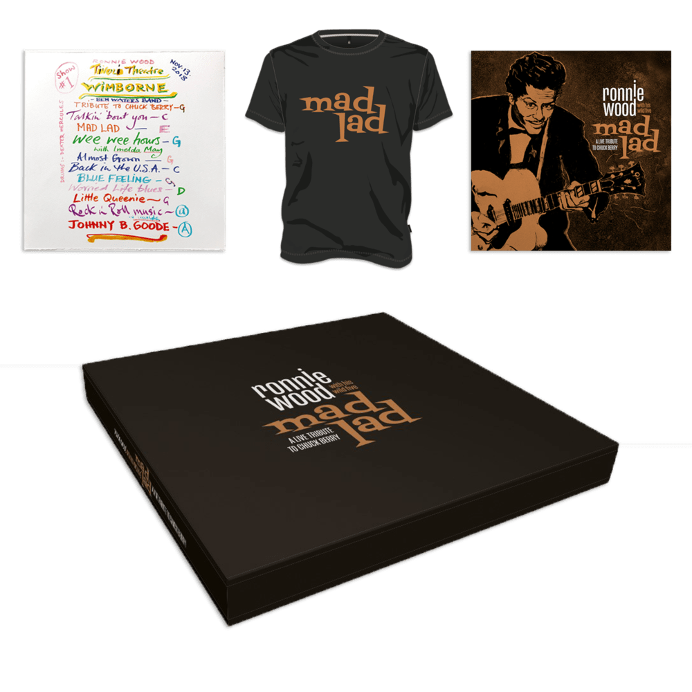 Buy Online Ronnie Wood with His Wild Five - Mad Lad: A Live Tribute to Chuck Berry Super Deluxe Boxset