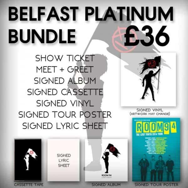 Buy Online Room 94 - Belfast Platinum VIP/Ticket Bundle