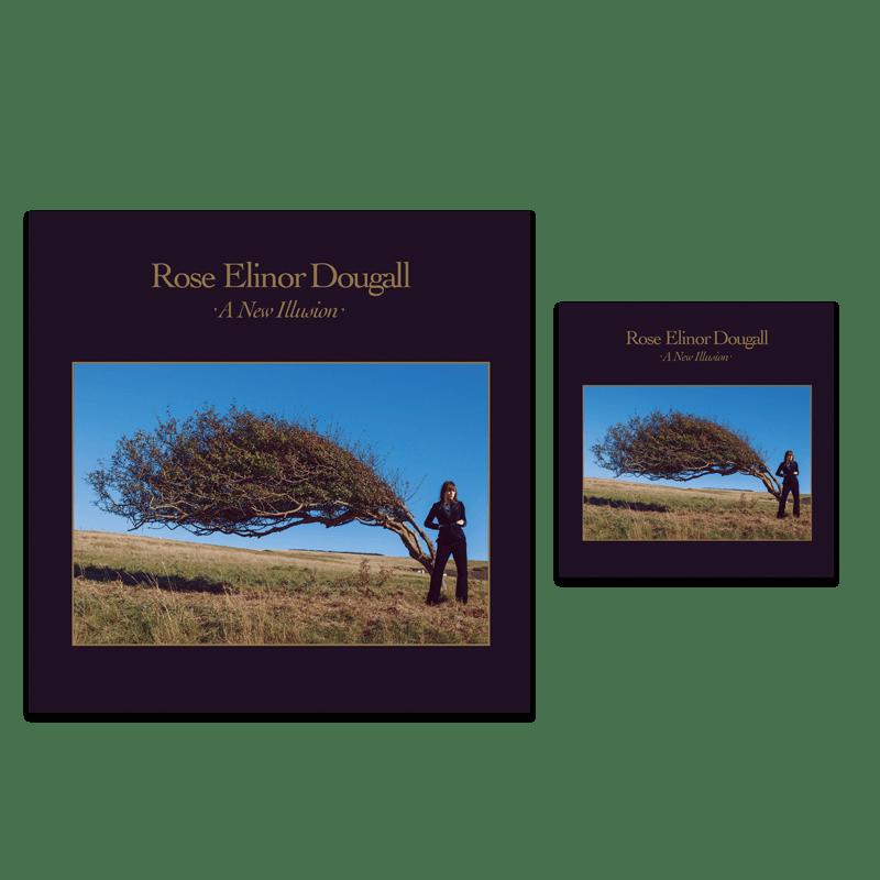 Buy Online Rose Elinor Dougall  - A New Illusion - Transparent Blue Vinyl & CD Bundle