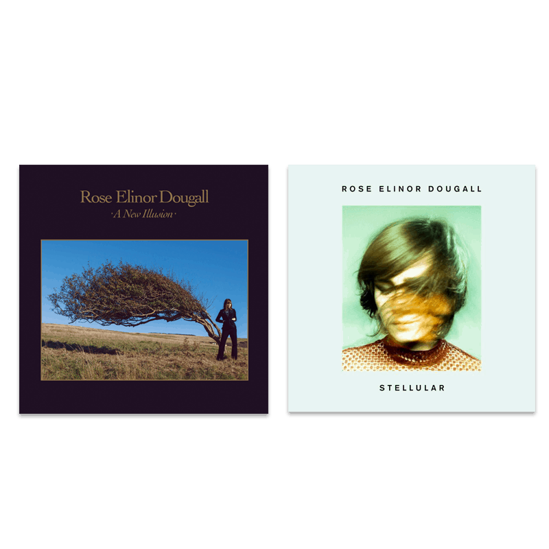Buy Online Rose Elinor Dougall  - A New Illusion - Transparent Blue Vinyl & Stellular Vinyl (Signed) Bundle