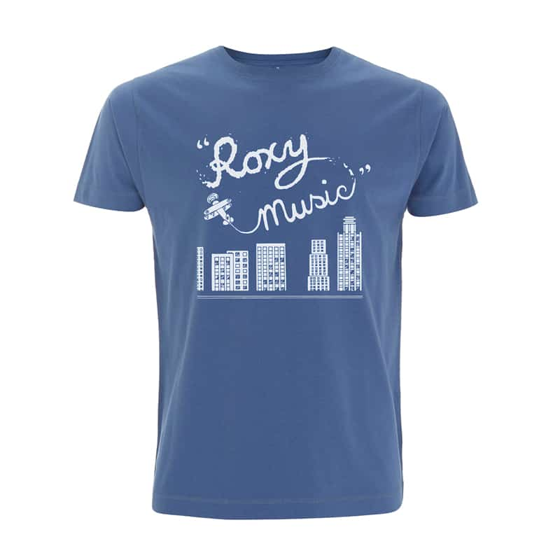 Buy Online Roxy Music - Plane Faded Denim T-Shirt