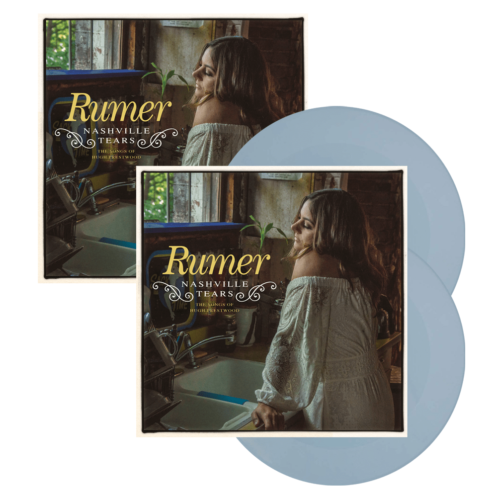 Buy Online Rumer - Nashville Tears Baby Blue Double Vinyl (Exclusive) + 12-Inch Print (Signed) + Wine Bottle Sticker