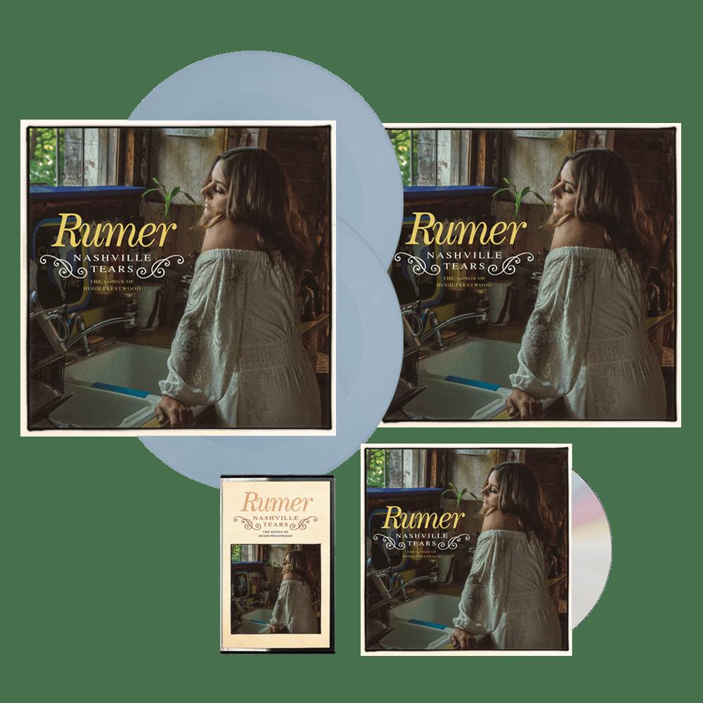 Buy Online Rumer - Nashville Tears CD Album (Signed) + Baby Blue Double Vinyl (Exclusive) + Cassette (Exclusive) + 12-Inch Print (Signed) + Wine Bottle Sticker