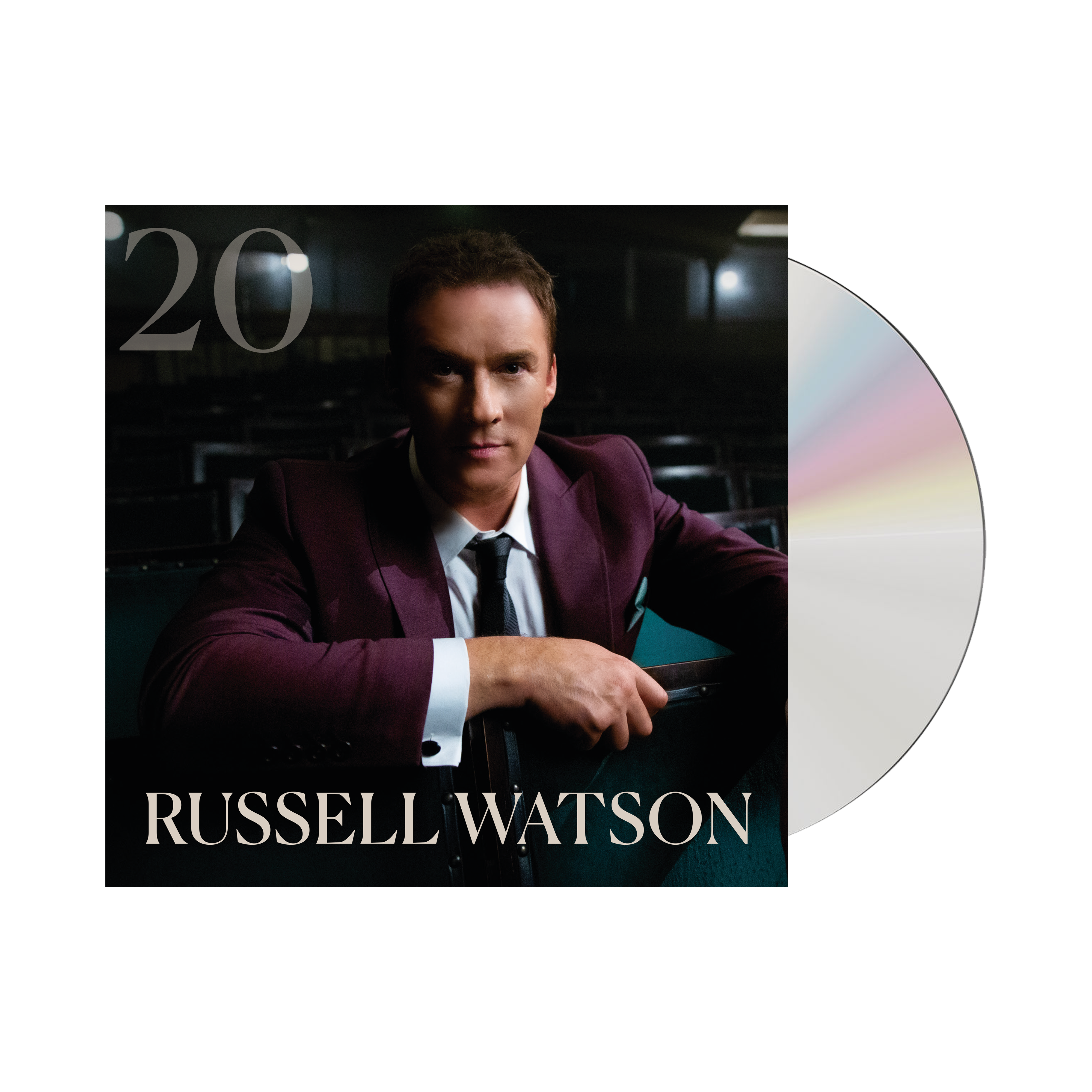 Buy Online Russell Watson - '20' CD Album (w/ Signed Booklet) + Photograph (Signed)