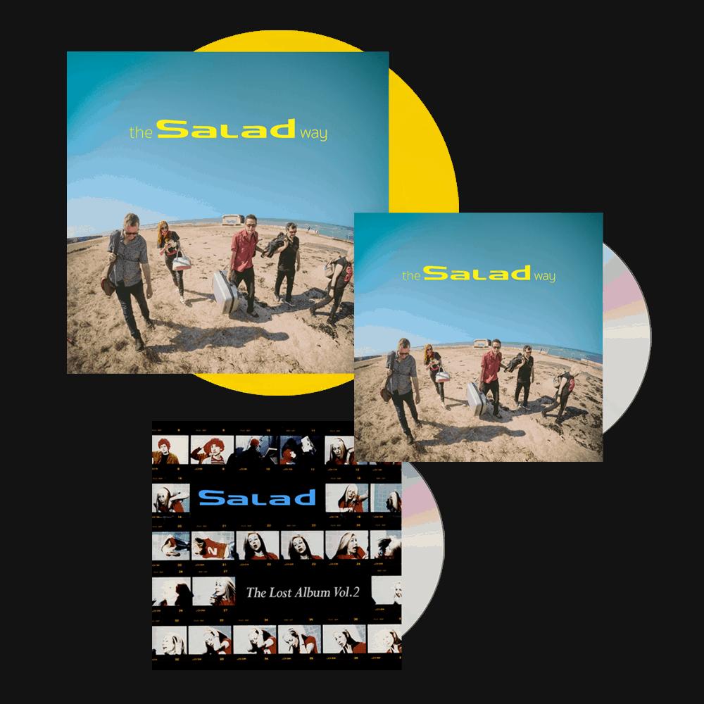 Buy Online Salad - The Salad Way Yellow Vinyl (Signed) + CD (Signed) + The Lost Album Vol. 2 CD Album