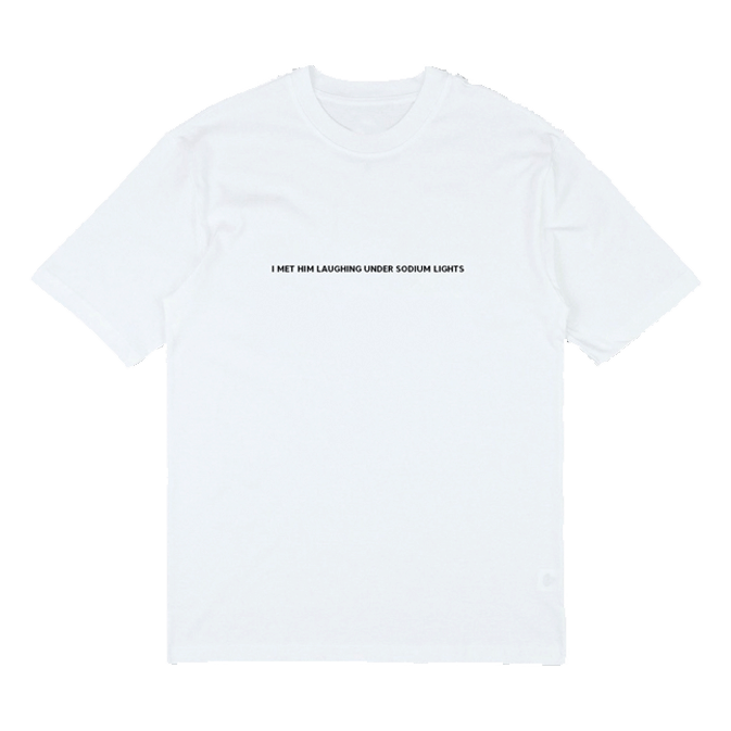 Buy Online Sarah Close - 'I Met Him Laughing Under Sodium Lights' Embroidery T-Shirt
