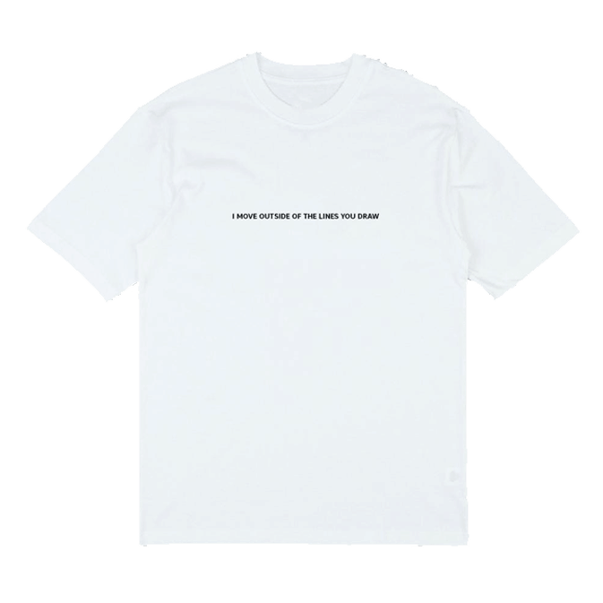 Buy Online Sarah Close - Lines You Draw Embroidery T-Shirt