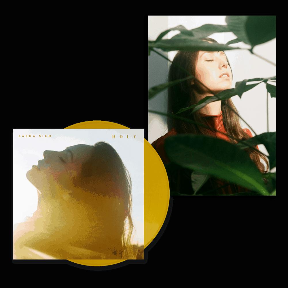 Buy Online Sasha Siem - HOLY GOLD VINYL & A2 POSTER