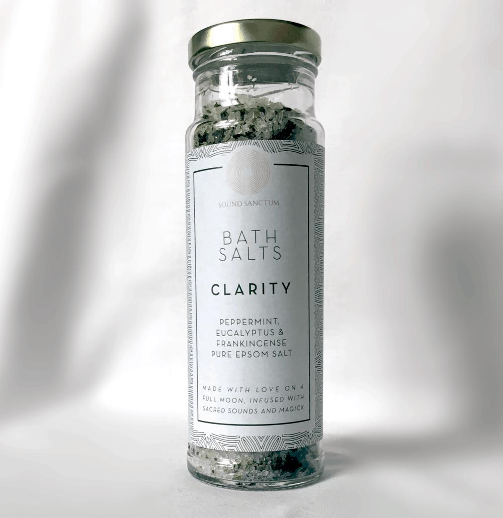 Buy Online Sasha Siem - Sound Sanctum Clarity Bath Salts. Peppermint, Eucalyptus And Frankincense Pure Epsom Salt