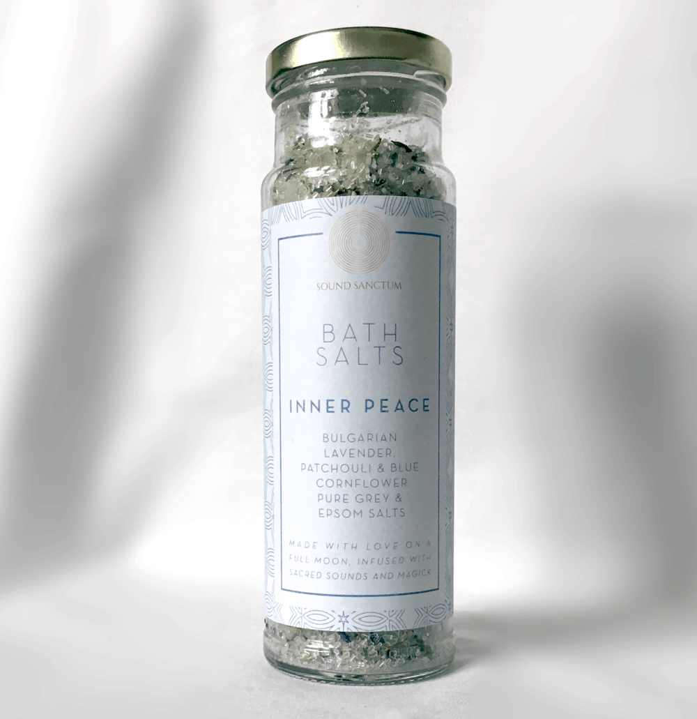 Buy Online Sasha Siem - Sound Sanctum Inner Peace Bath Salts. Bulgarian Lavender, Patchouli And Blue Cornflower Pure Grey And Epsom Salt