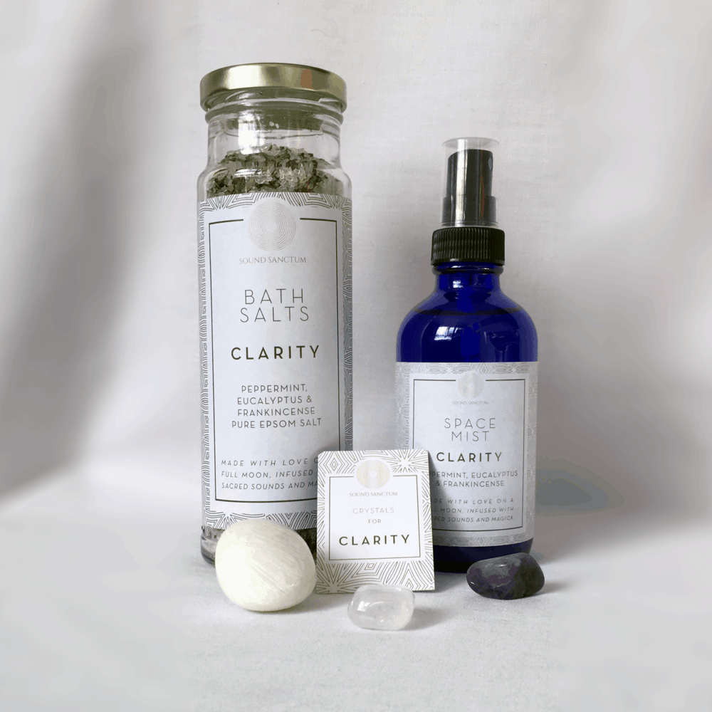 Buy Online Sasha Siem - Sound Sanctum Clarity Pack Comprising Bath Salts, Space Mist & Crystals