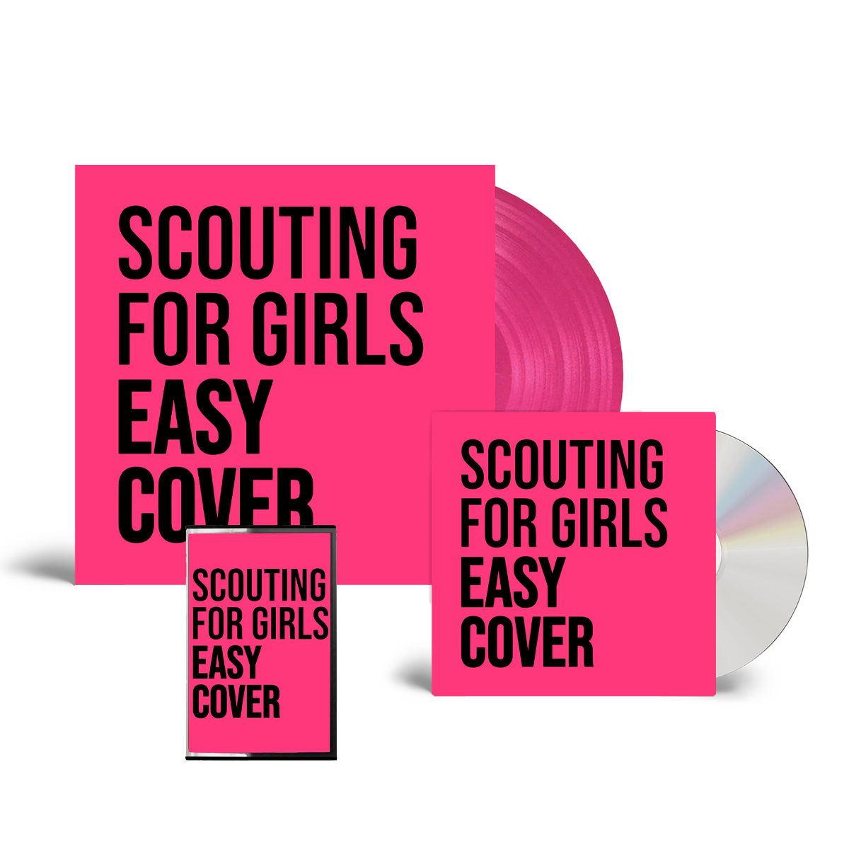 Buy Online Scouting For Girls - Easy Cover CD (Signed) + Pink Vinyl (Signed, Numbered) + Cassette