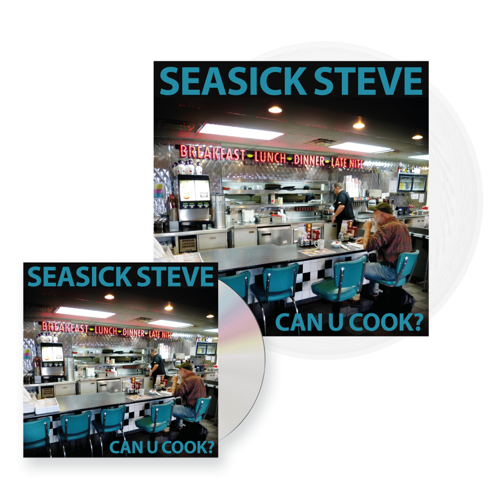Buy Online Seasick Steve - Can U Cook? CD + Clear 180g Vinyl