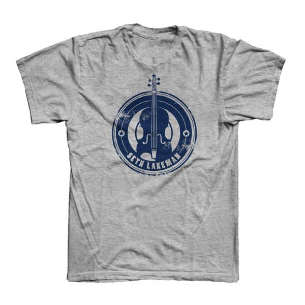 Buy Online Seth Lakeman - Ladies New Logo Grey T-Shirt