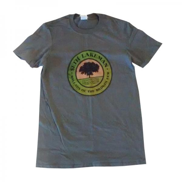 Buy Online Seth Lakeman - Mens Ballads Of The Broken Few Grey T-Shirt