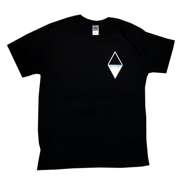 Buy Online Set It Off - Duality Diamond Black T-Shirt