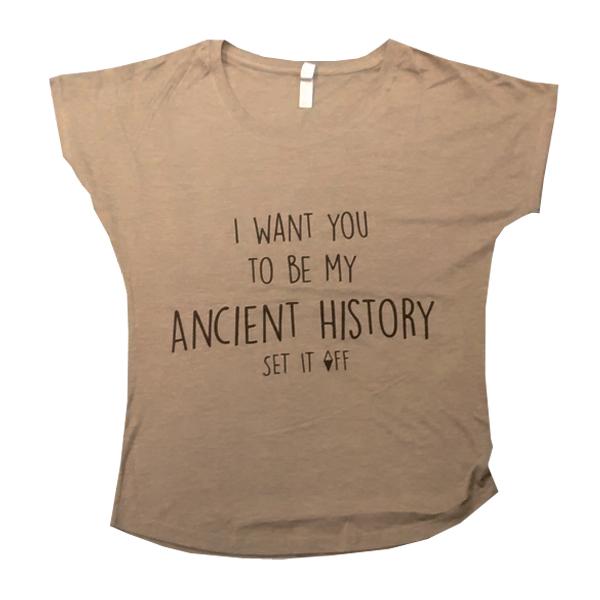 Buy Online Set It Off - Ladies History Girls Dolman Tee