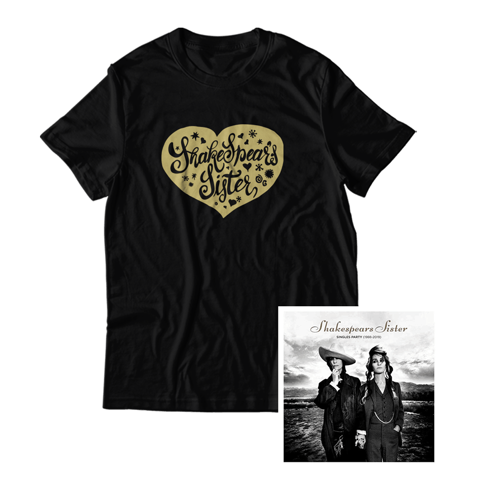 Buy Online Shakespears Sister - Singles Party (1988-2019) T-Shirt + Digital Album
