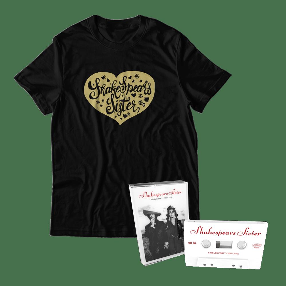 Buy Online Shakespears Sister - Singles Party (1988-2019) Cassette + T-Shirt Bundle